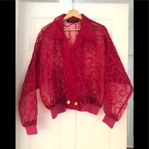 Auth Christian Lacroix Luxe Organza Jacket